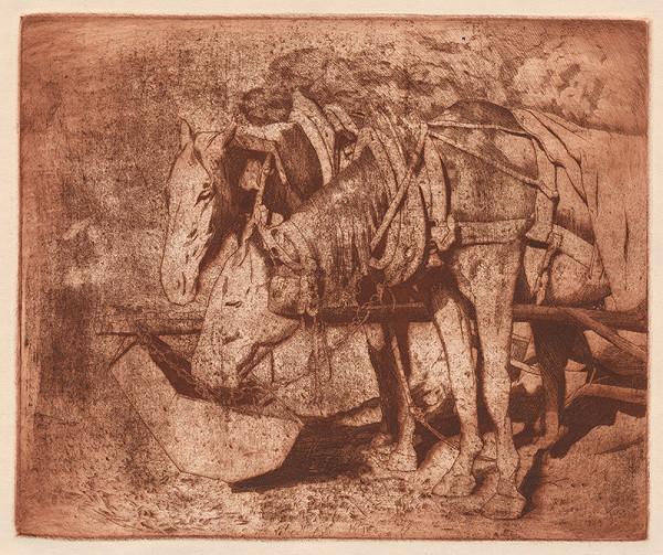 Viktor Hermély - Kone pri kŕmení