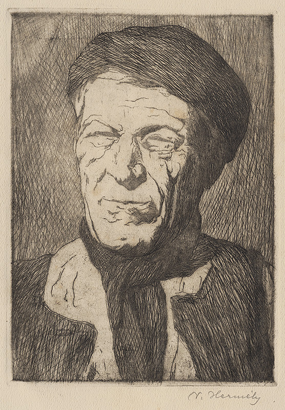 Viktor Hermély – Autoportrét