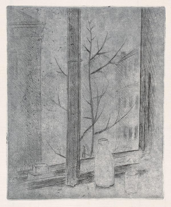 Mikuláš Galanda – Zátišie v okne