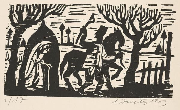 Ernest Zmeták - Muž s koňom a starenka