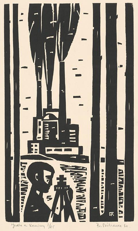 Róbert Dúbravec – Jedle a komíny, 1960, Stredoslovenská galéria