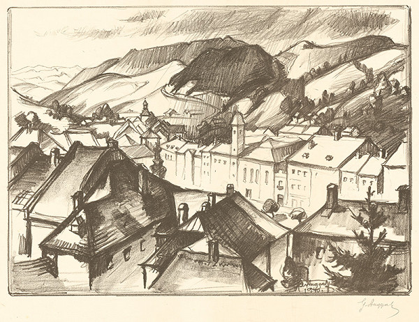 Gejza Angyal – Pohľad od zámku