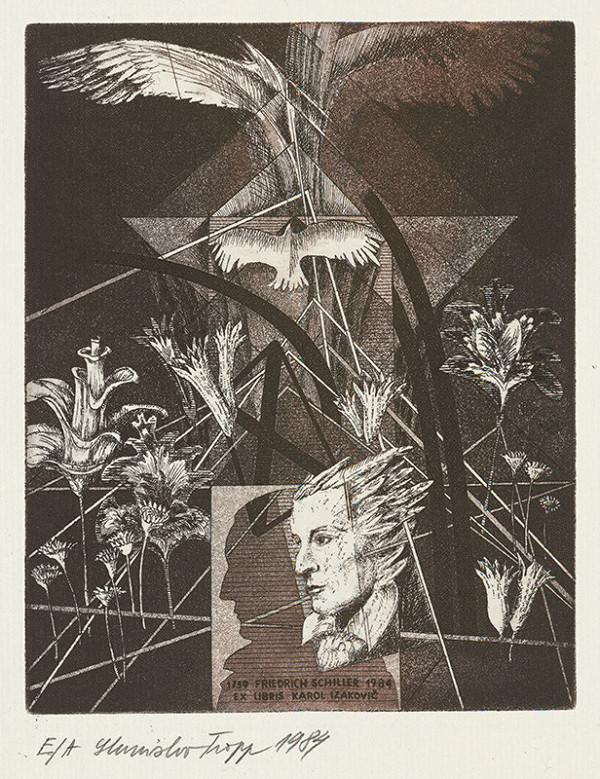 Stanislav Tropp - Ex libris Karol Izakovič, Friedrich Schiller