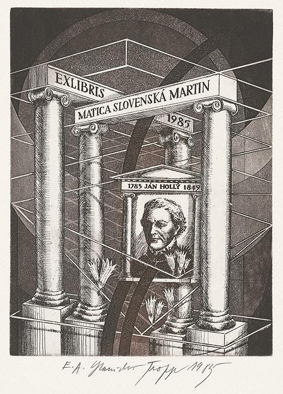 Stanislav Tropp - Ex libris MS Martin