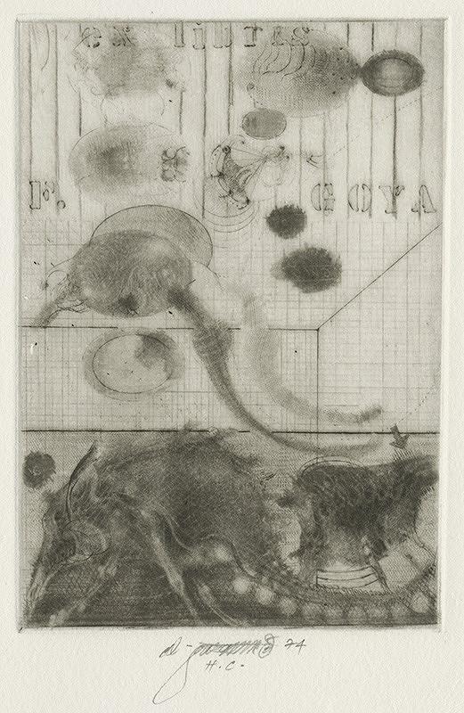 Vladimír Gažovič - Ex libris F.Goya
