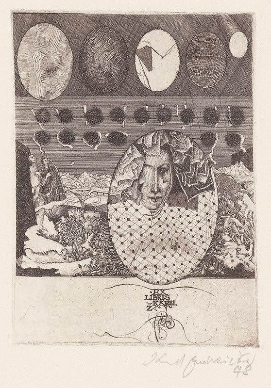 Karol Ondreička - Ex libris Karel Ž.