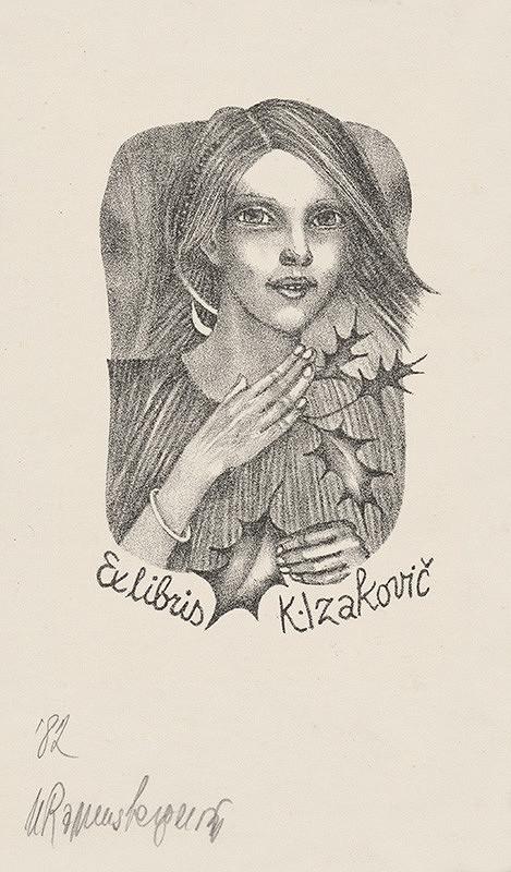 Naďa Rappensbergerová-Jankovičová – Ex libris K. Izakovič II