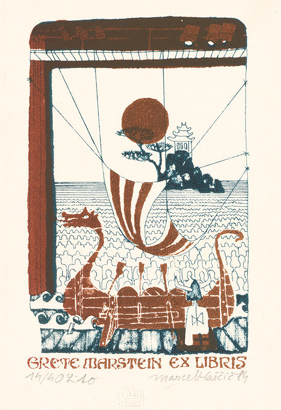 Marcel Haščič - Ex libris Grete Marstein