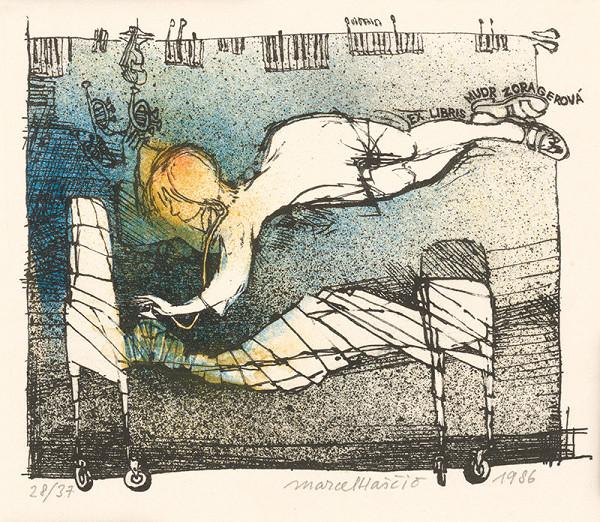 Marcel Haščič – Ex libris Mudr. Zora Gerová