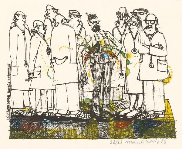 Marcel Haščič – Ex libris Mudr. Nataša Feťkovská