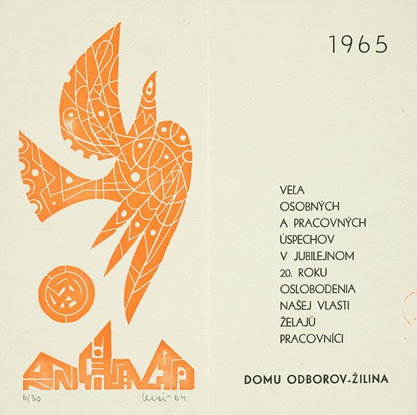 Fero Kráľ – PF 1965 pre Dom odborov v Žiline