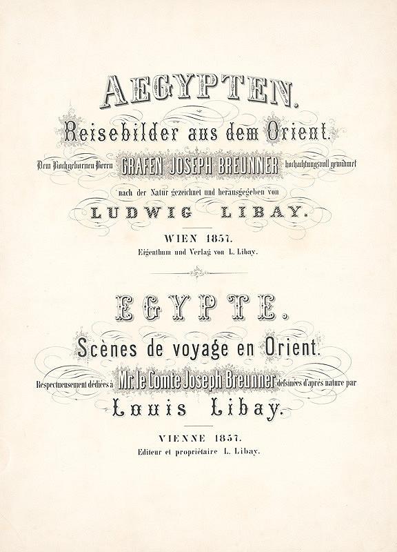 Karol Ľudovít Libay – Aegypten - Egypte