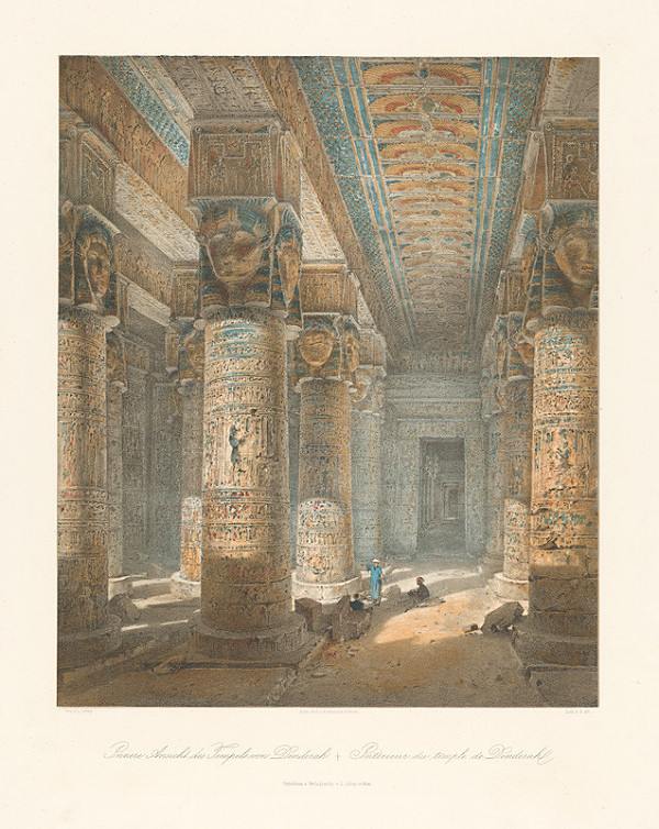 Karol Ľudovít Libay - Interiér chrámu v Denderah