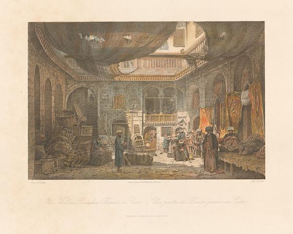 Karol Ľudovít Libay - Časť perzského bazáru v Kaire