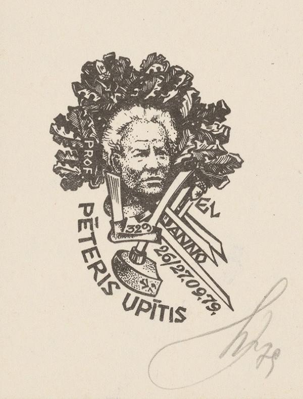 Vilnis Resnis - Ex libris P.Upítis