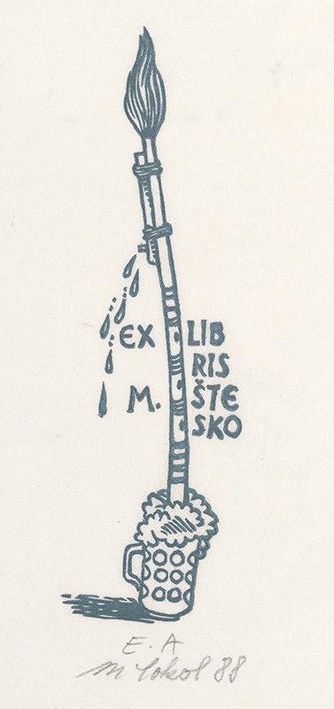 Milan Sokol – Ex libris M.Štesko