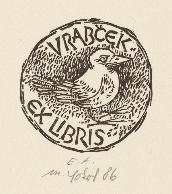 Milan Sokol - Ex libris Vrabček