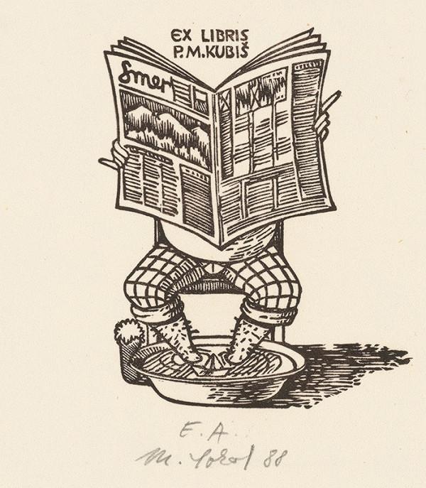 Milan Sokol - Ex libris P.M. Kubiš