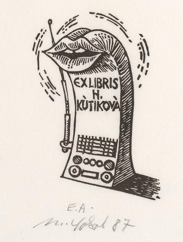 Milan Sokol – Ex libris H.Kútiková