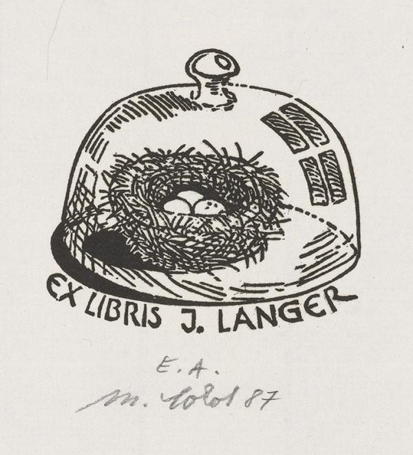Milan Sokol – Ex libris J.Langer
