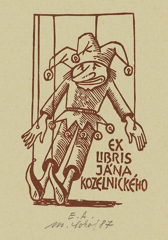 Milan Sokol – Ex libris J.Kozelnický