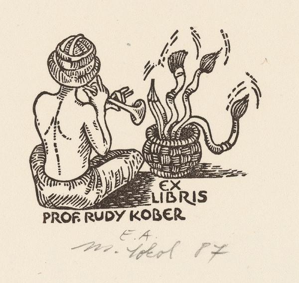 Milan Sokol - Ex libris R.Kober