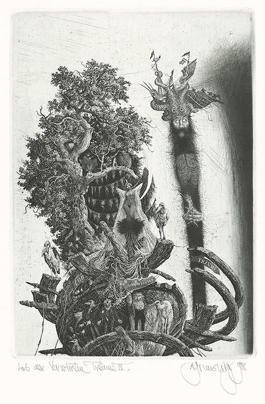 Albín Brunovský – Chvála zamotaných snov IX., 1984, Stredoslovenská galéria