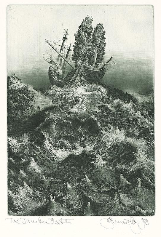 Albín Brunovský – Opitý koráb II. (pre báseň Arthura Rimbauda), 1984, Stredoslovenská galéria