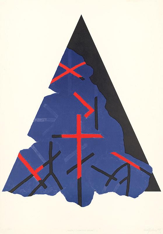 Rudolf Sikora - Mohyla II -geometricky zrezaná