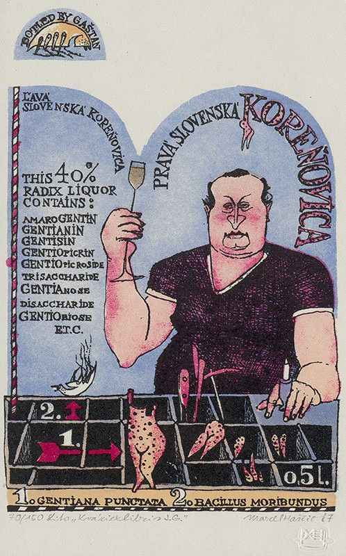 Marcel Haščič – Kváziexlibris J.G.
