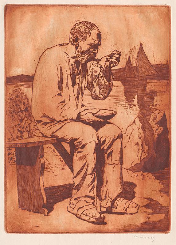 Viktor Hermély - Starý rybár