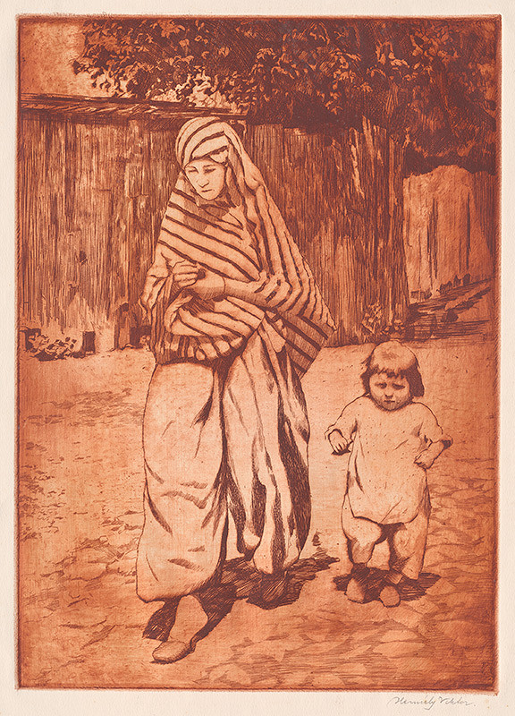 Viktor Hermély – Turecká žena s dieťaťom