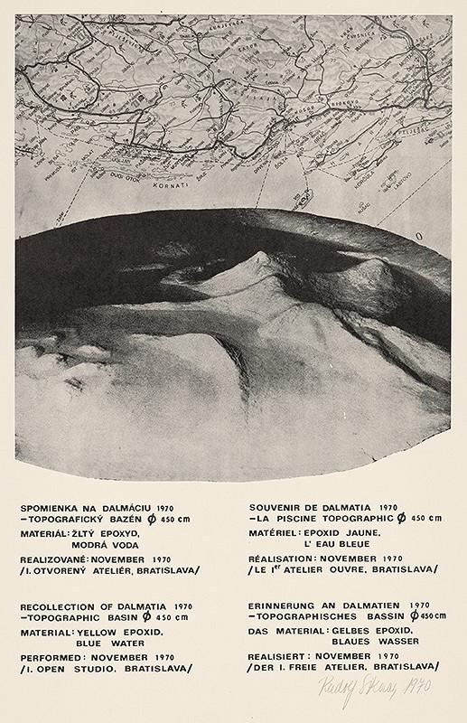 Rudolf Sikora – Spomienka na Dalmáciu 1970 - Topografický bazén  450