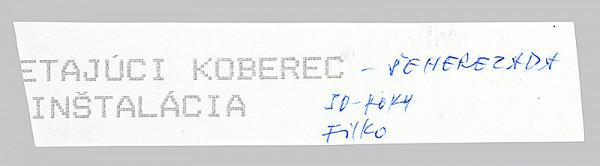 Stanislav Filko – LIETAJÚCI KOBEREC – ŠEHEREZÁDA INŠTALÁCIA