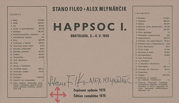 Stanislav Filko, Alex Mlynárčik – Happsoc I., Bratislava, 2.–8. V. 1965 (Doplnené vydanie 1975)