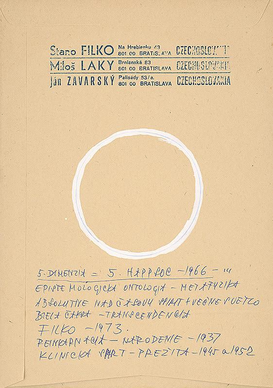 Stanislav Filko – 5. DIMENZIA = 5. HAPPSOC – 1966 – EPISTEMOLOGICKA ONTOLOGIA – METAFYZIKA (časť názvu)