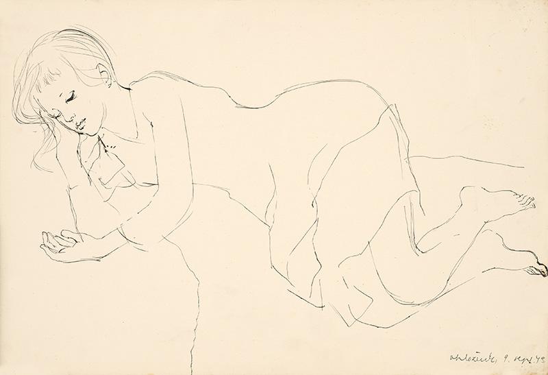 Vincent Hložník – Ležiace dievča, 1943
