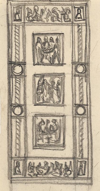 Rudolf Pribiš – Štúdia k dverám na Slavíne I.