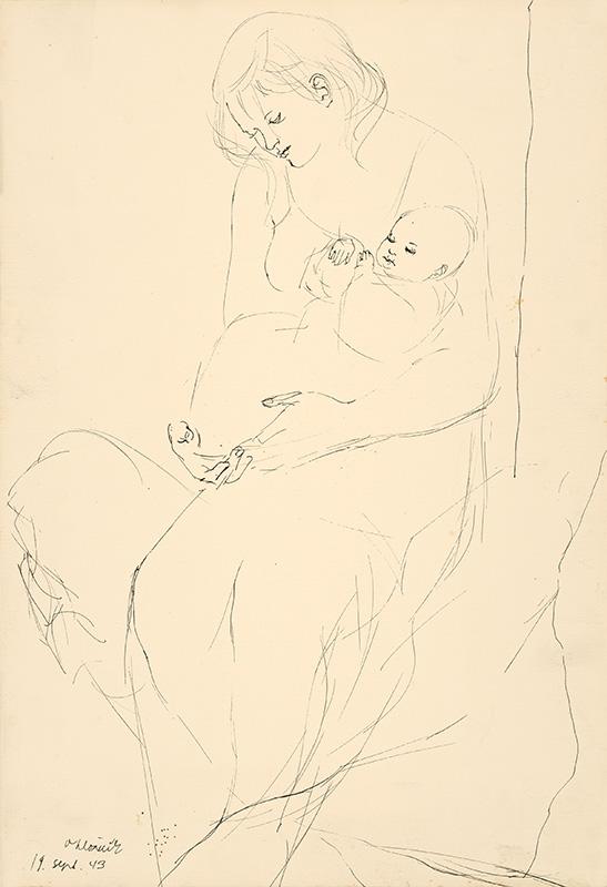 Vincent Hložník – Matka s dieťaťom, 1943