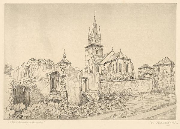 Viktor Hermély - Staré hradby v Kremnici