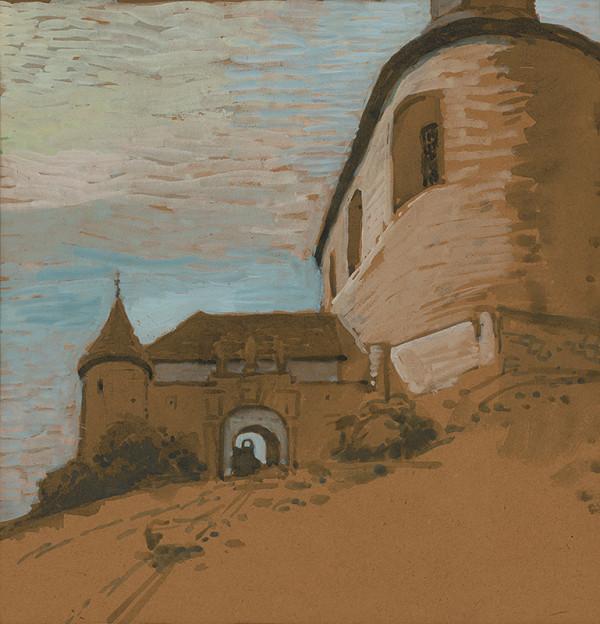 Koloman Tichy – Krásna Hôrka - vchod do hradu