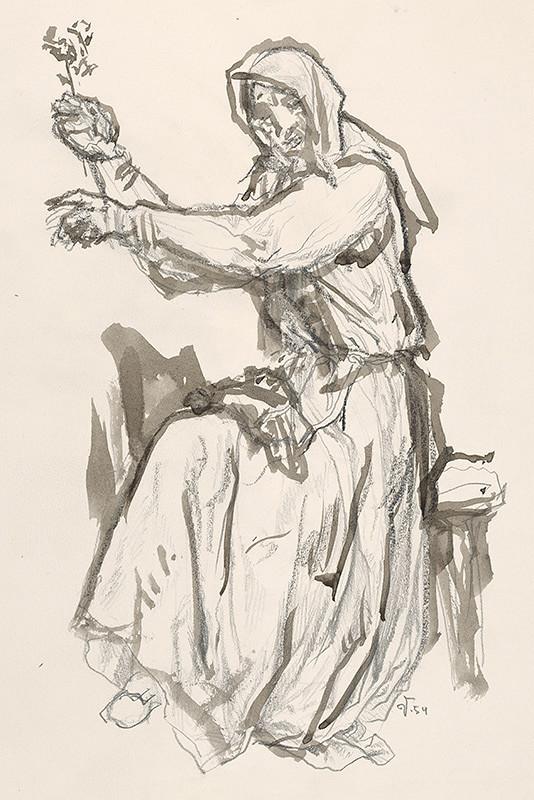 Jaroslav Vodrážka - Žena s kvetom