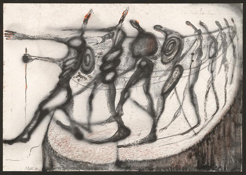 Stanislav Balko – Diptych z cyklu Slepci, 1989, Stredoslovenská galéria