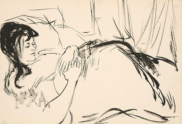 Vincent Hložník – Štúdia sediacej ženy