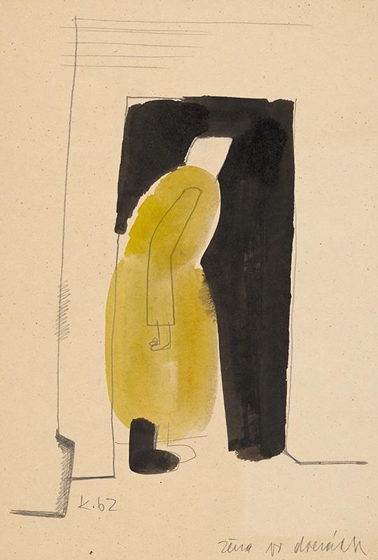 Vladimír Kompánek – Žena vo dverách, 1962
