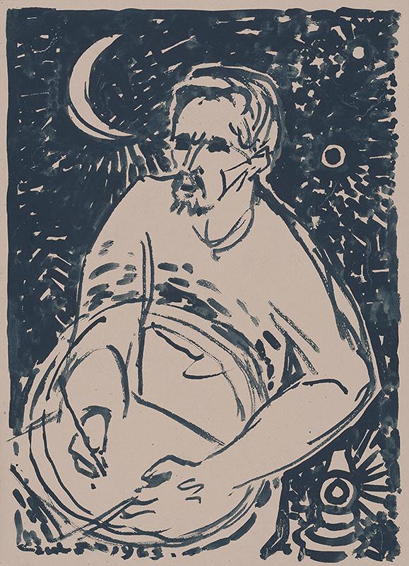 Július Szabó - Autoportrét s mesiacom