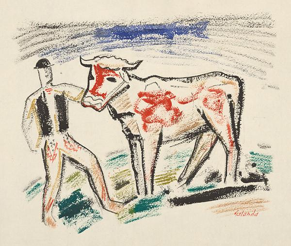 Mikuláš Galanda - Pastier s kravičkou