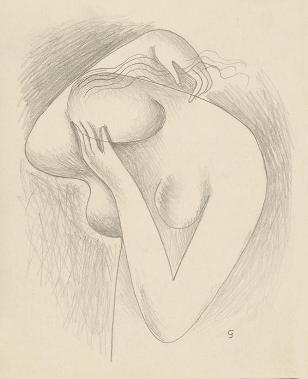Mikuláš Galanda - Polakt dievčaťa s hlavou v dlani