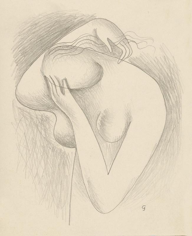 Mikuláš Galanda – Polakt dievčaťa s hlavou v dlani, 1932