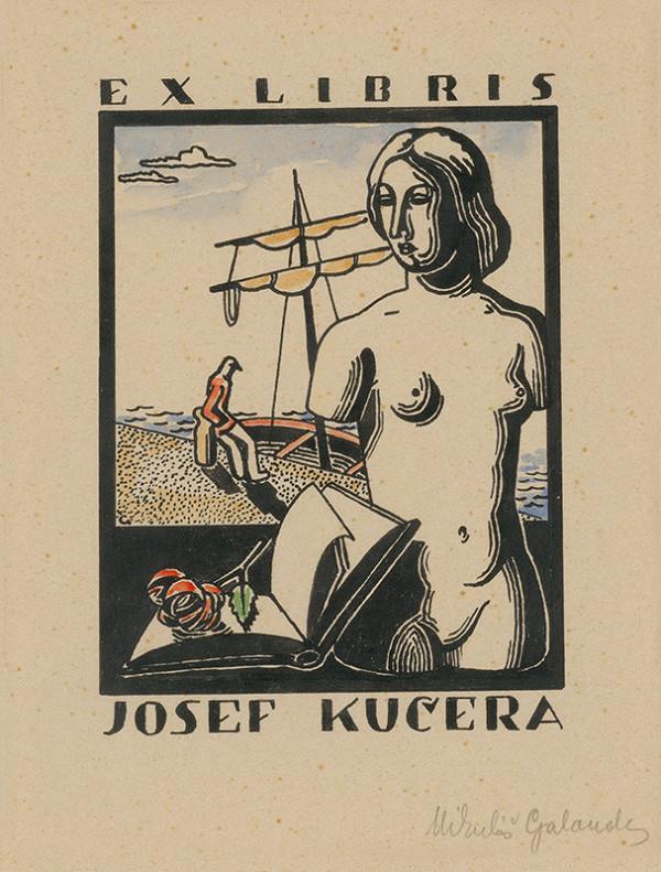 Mikuláš Galanda – Ex libris Josef Kučera